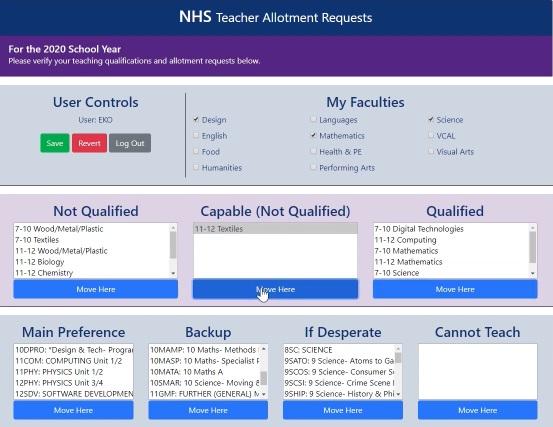 NHS Allotment Requests